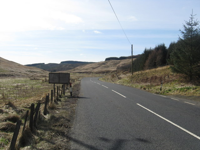 A701 road running past Glenbreck
