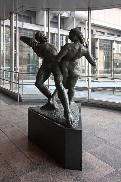 Sculpture on London Wall walkway