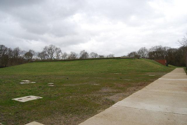 Underground reservoir on the edge of Blean Wood