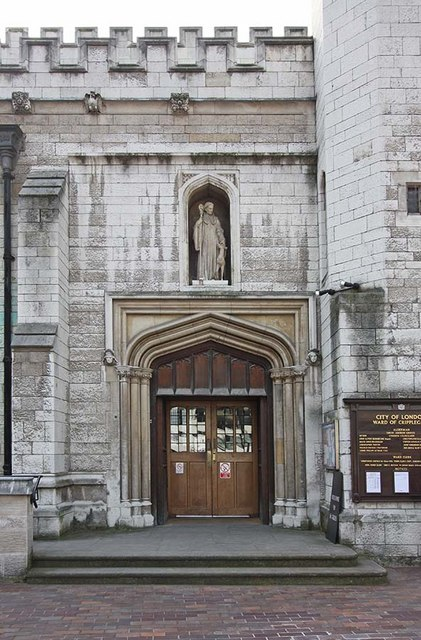 St Giles, Cripplegate, London EC2 - Entrance