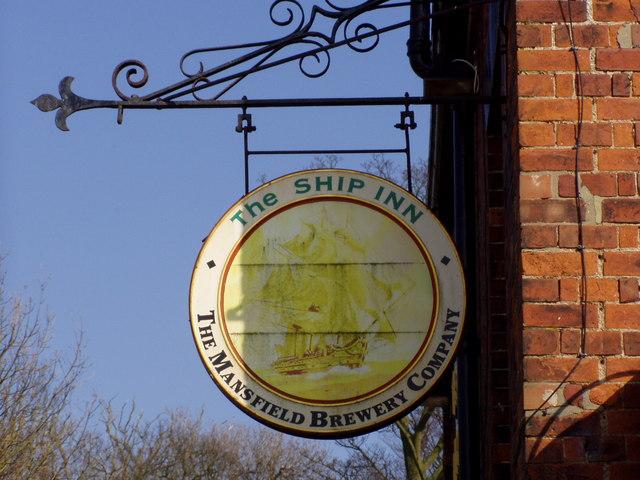 The Ship Inn Pub Sign