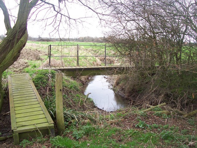 Footbridges on footpath junction