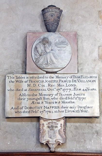 St Giles, Cripplegate, London EC2 - Wall monument