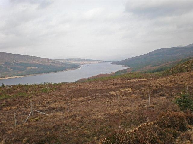Looking NE along Loch Loyne