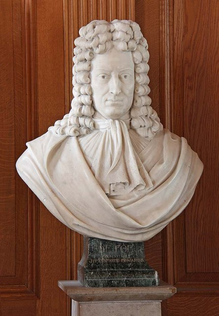 St Giles, Cripplegate, London EC2 - Bust of Defoe