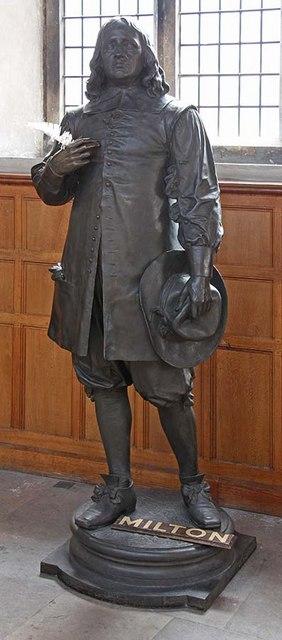 St Giles, Cripplegate, London EC2 - Statue of Milton