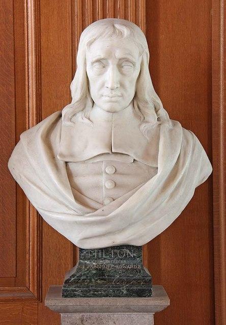 St Giles, Cripplegate, London EC2 - Bust of Milton