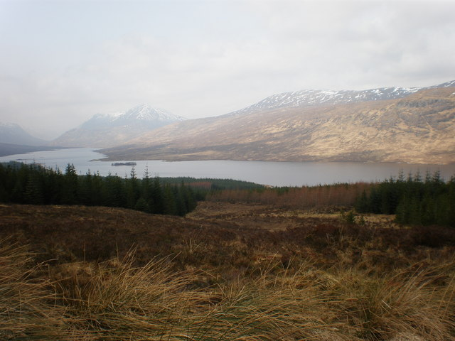 Looking Across Loch Loyne to South Glen Sheil Ridge