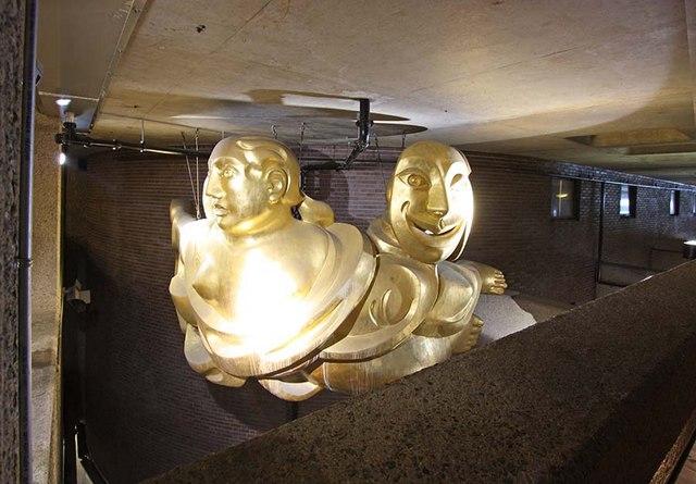The Barbican - Golden sculpture