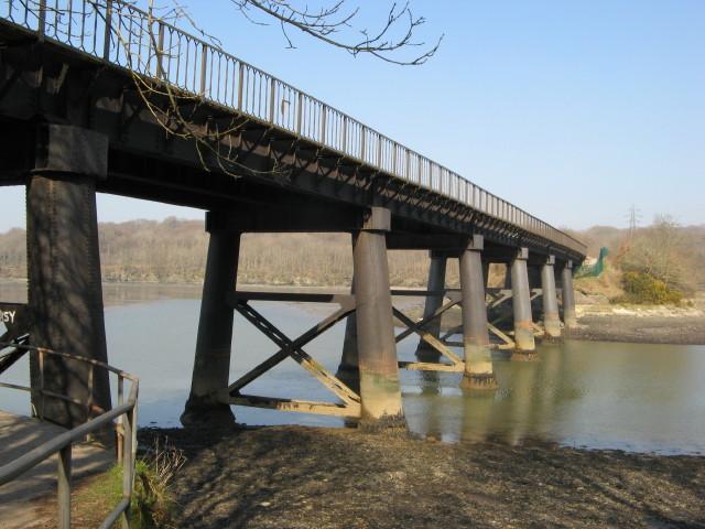 Tamerton Railway Bridge from the footpath below