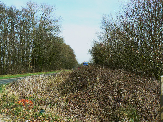 The A3102 towards Vastern, near Wootton Bassett
