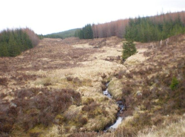 Allt a' Chaorainn tributary coming down from Mullach Coire Ardachaidh