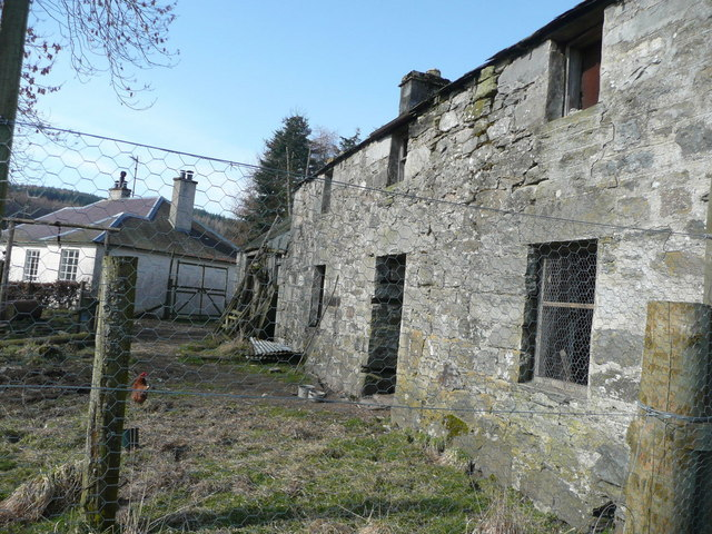Old steading at Edintian from south east