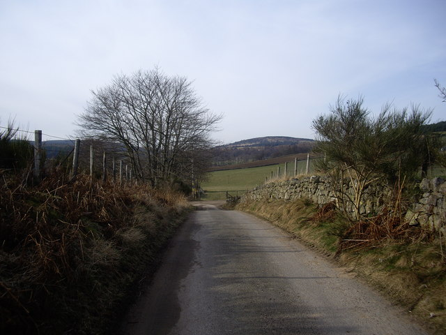 Lane from Denhead cottage