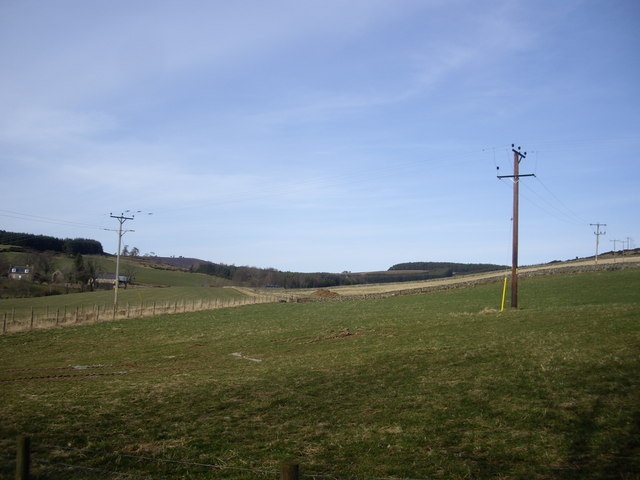 View NNE from near Denhead Cottage