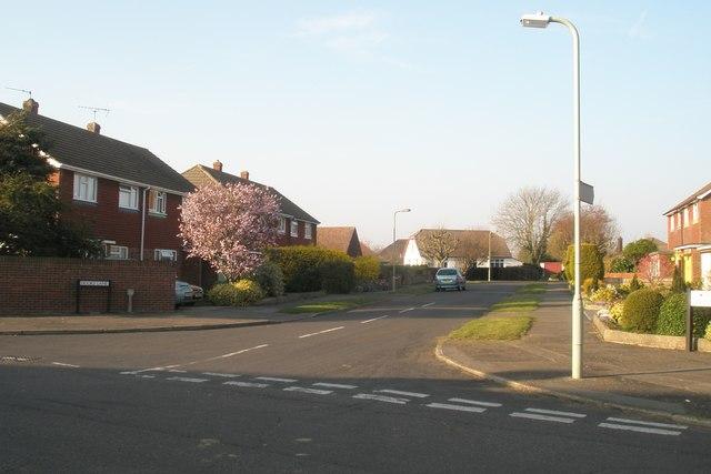 Junction of Hooks Lane and Woodstock Road