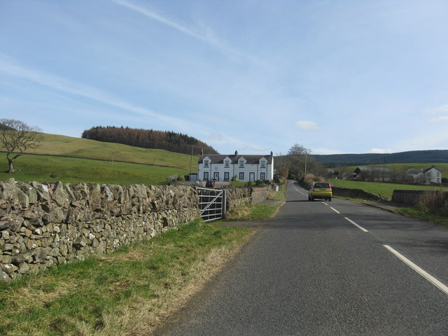 A pair of white houses near Moffat