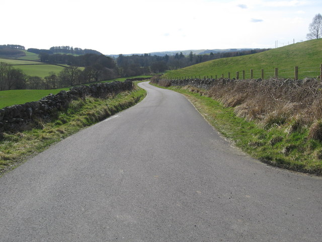 Minor road leading to Craigbeck Farm