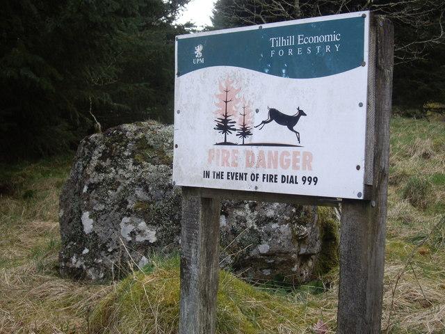 'Fire Danger' notice