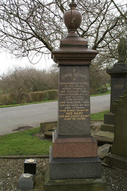 Inscription, Lance Todd's grave