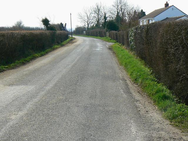 The road past Crew's House near Brinkworth