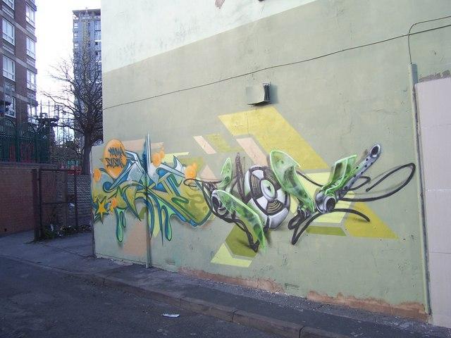Mural on Club Garden Walk