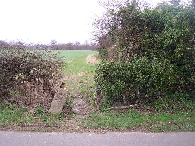 Footpath on Redwall Lane