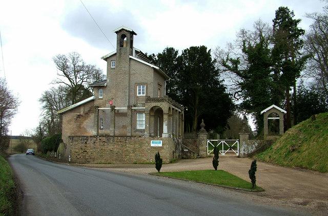 Northern gatehouse, Shrubland Hall