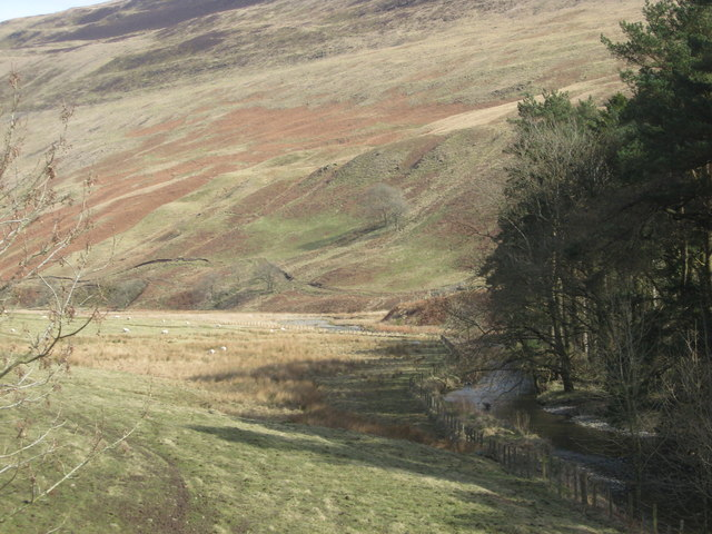The stunning colours of a Borders scene as the Moffat Water meanders through the hills