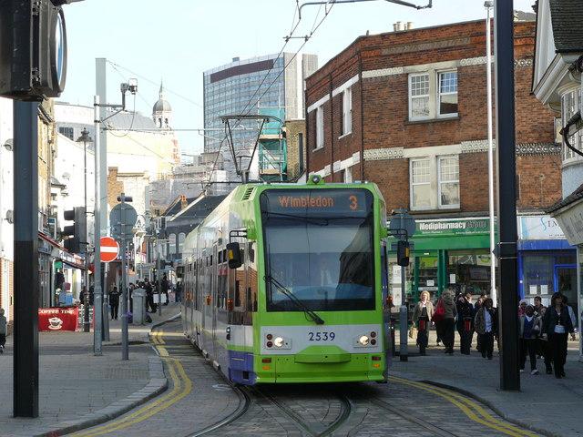 Tram in Church Street