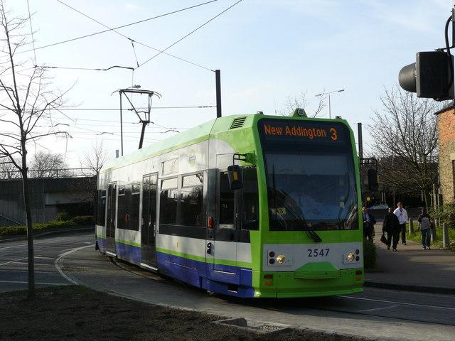 Tram Turns Into Tamworth Road