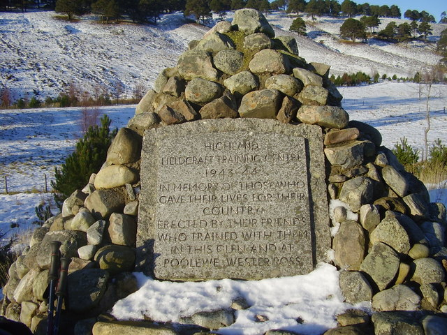 Memorial in  Glen Feshie