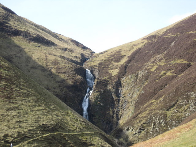Cutting through rocks, the Grey Mare's Tail