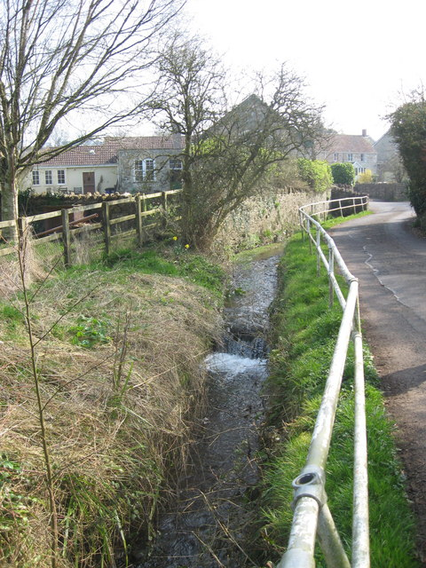 The River Somer in Chilcompton Church Lane