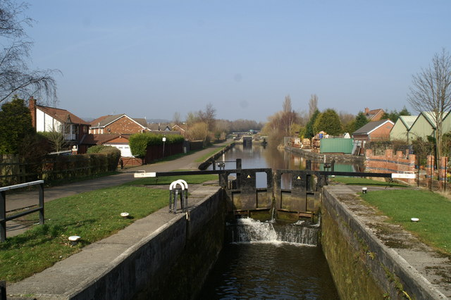 Lock 78, from Manchester Road, Higher Ince