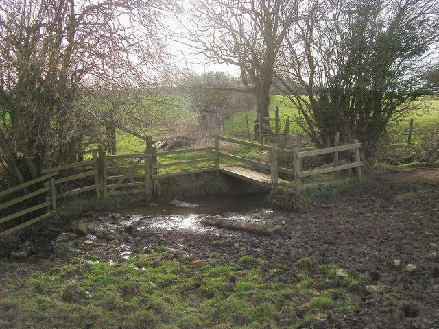Footpath across brook