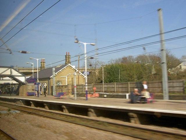 Speeding North through Huntingdon railway station