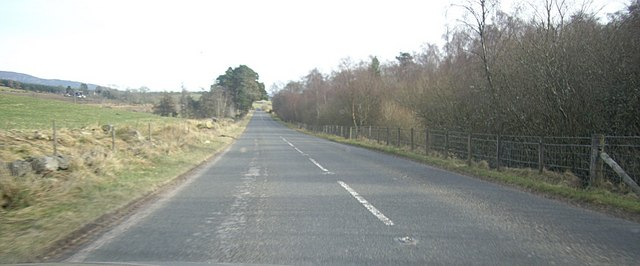 A980 down to Findrack/Pitmurchie crossroads