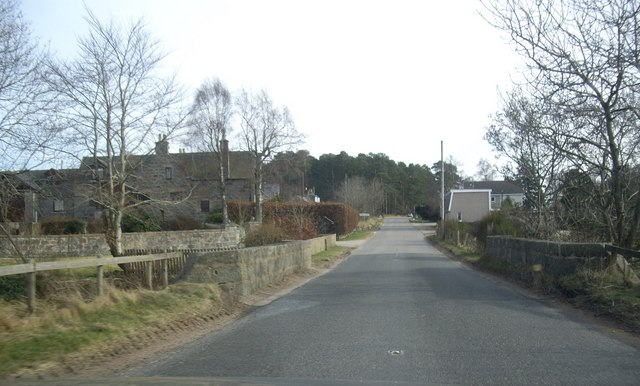 A980 crossing Beltie Burn