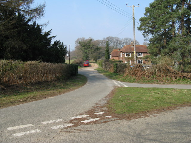Houses near road junction