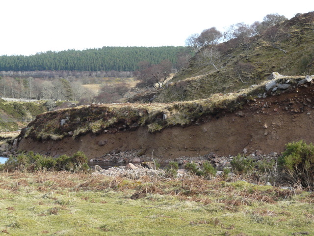Bank erosion on Langwell Water