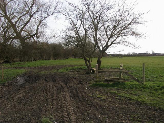 Footpath towards Hill Farm