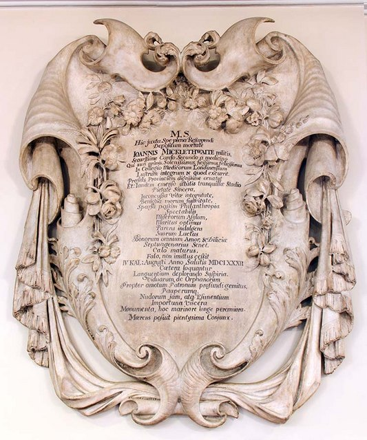 St Botolph without Aldersgate, London EC1 - Wall monument