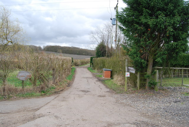 Entrance to Brook Farm, Denstroude Lane