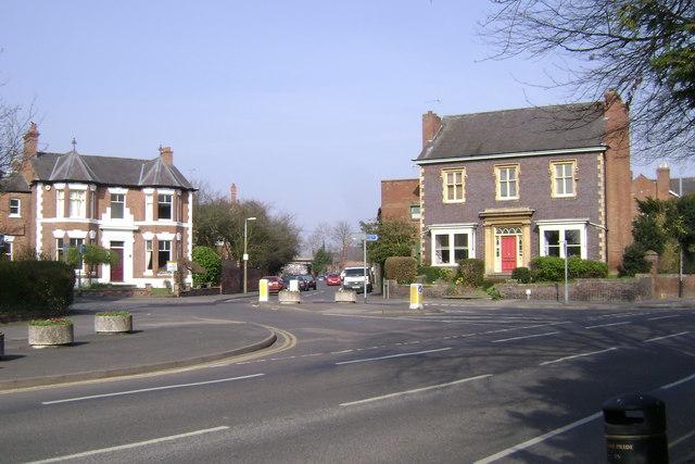 The end of Coten End, Warwick