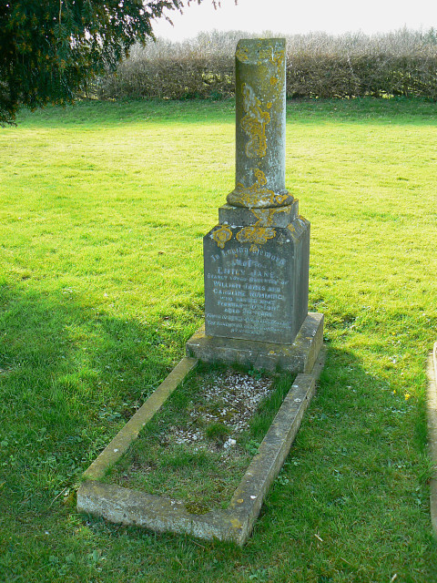 Grave of Emily Rumming, Brinkworth cemetery