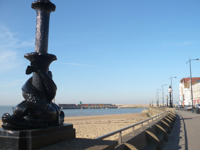 A view northwards along Marine Drive, Margate