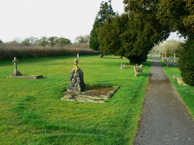 Brinkworth cemetery in the afternoon, Brinkworth