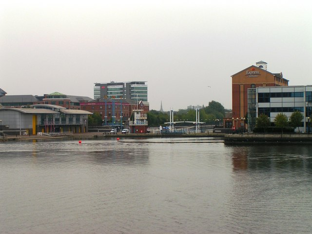 Merchant's Quay and Welland Lock, Salford Quays