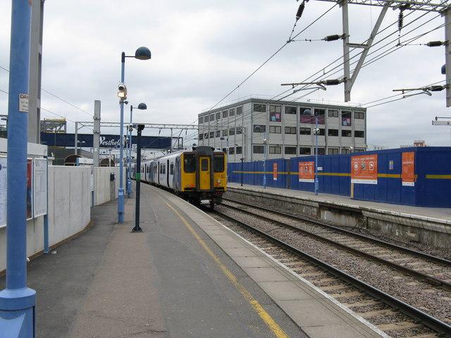 Platform 12, Stratford station, East London